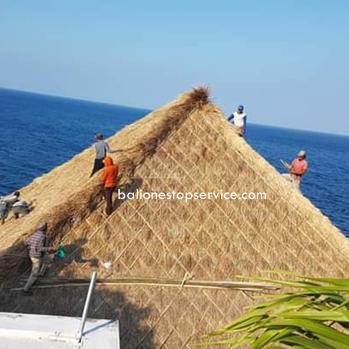 jasa pasang rumah bambu di bali